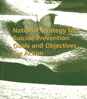 Cover of government publication, <em>National Strategy for Suicide Prevention</em>