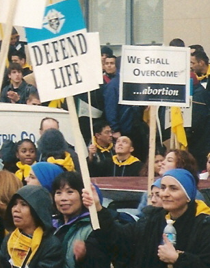 Activists at the March for Life