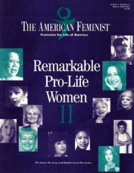 Feminists for Life magazine cover features 'Remarkable Pro-Life Women'