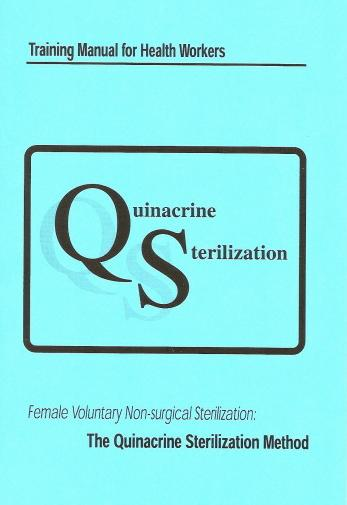 Training manual on <em>Quinacrine Sterilization</em>