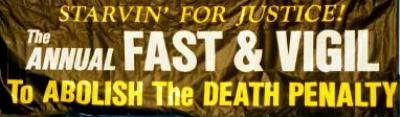 Bumper sticker for fast and vigil against the death penalty